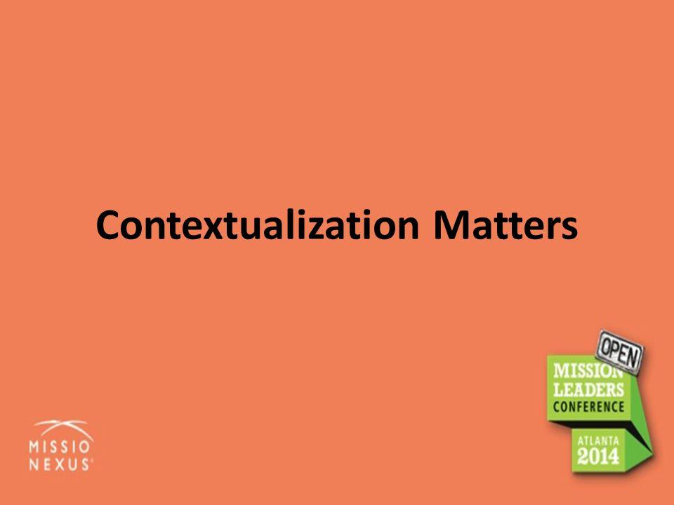 Contextualization Matters