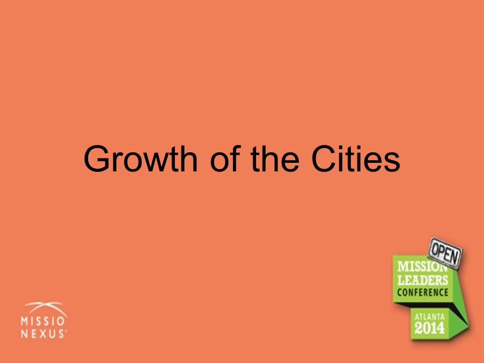 Growth of the Cities