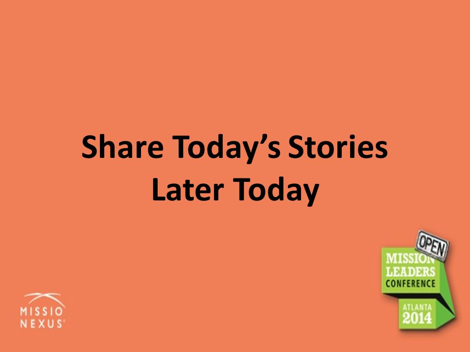 Share Today's Stories Later Today