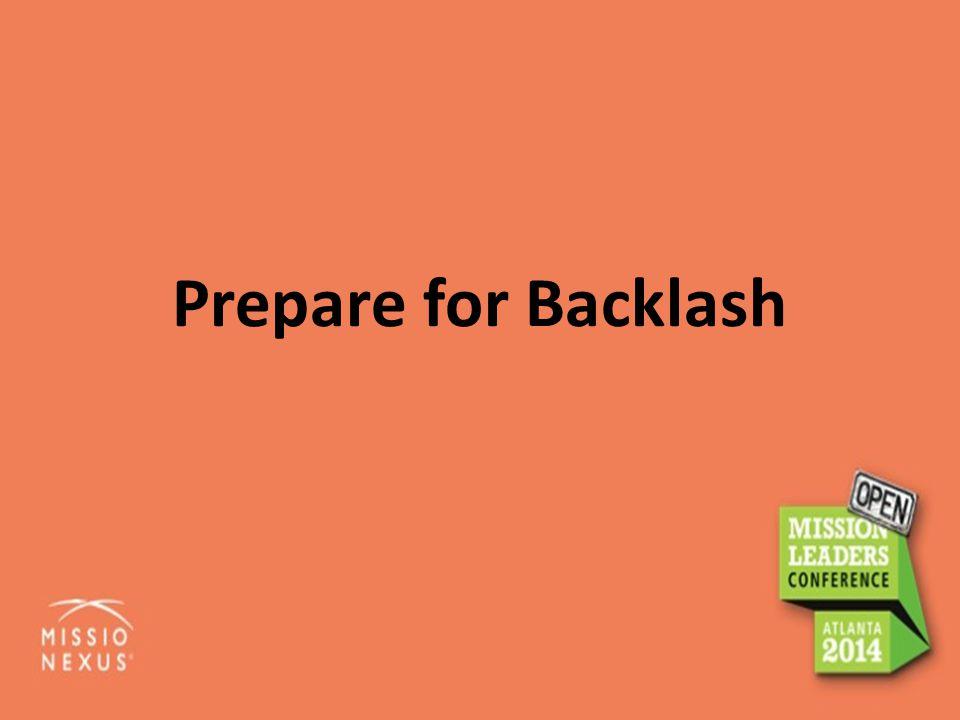 Prepare for Backlash