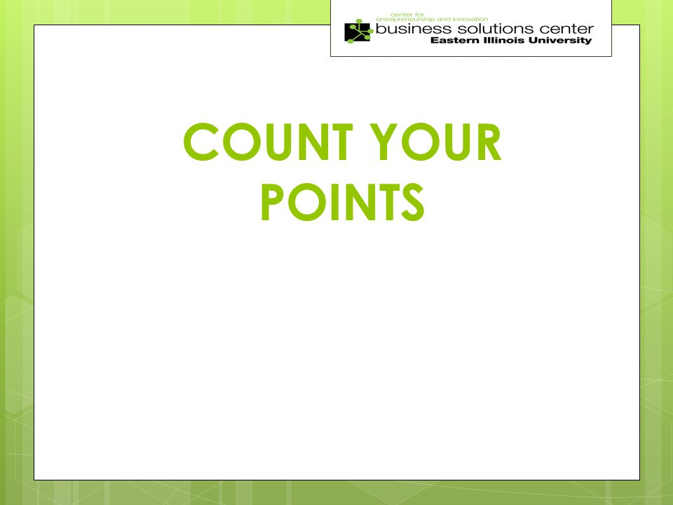 COUNT YOUR POINTS