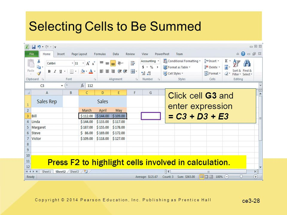 ce3-28 Selecting Cells to Be Summed Copyright © 2014 Pearson Education, Inc.