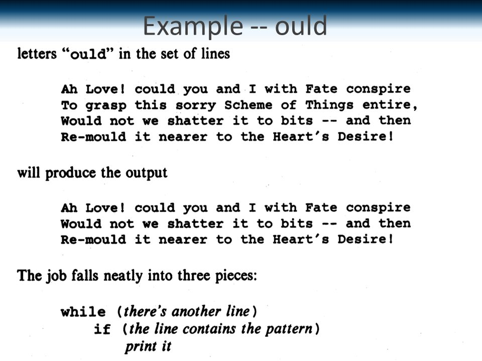 Example -- ould