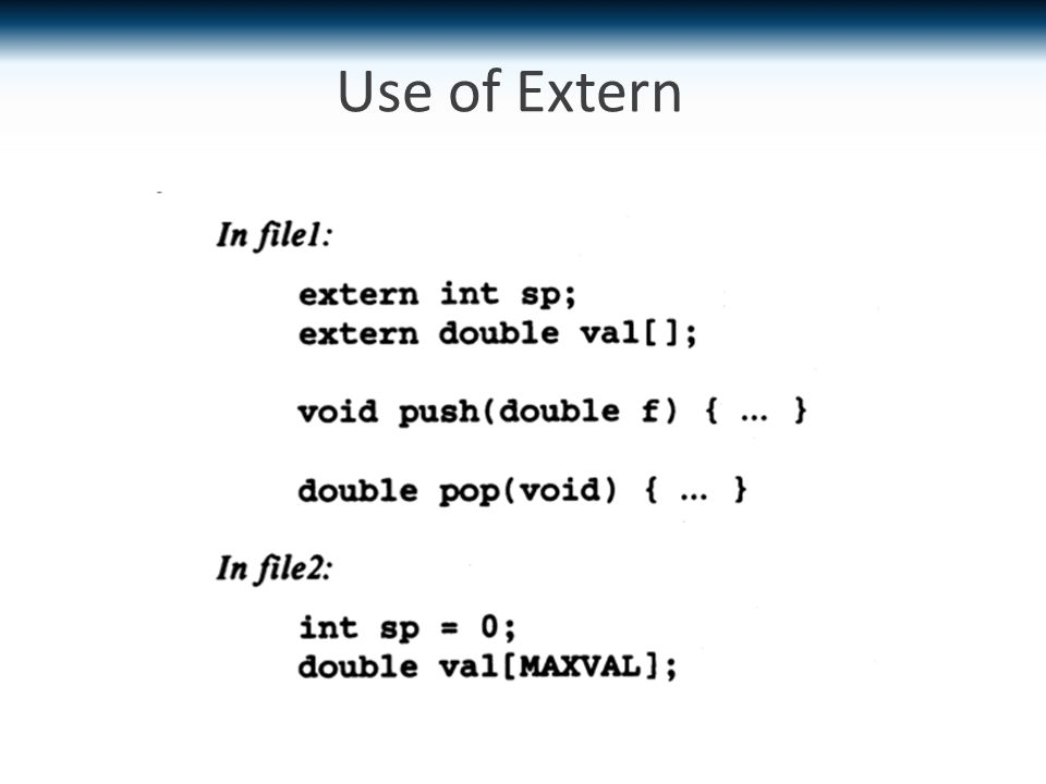 Use of Extern