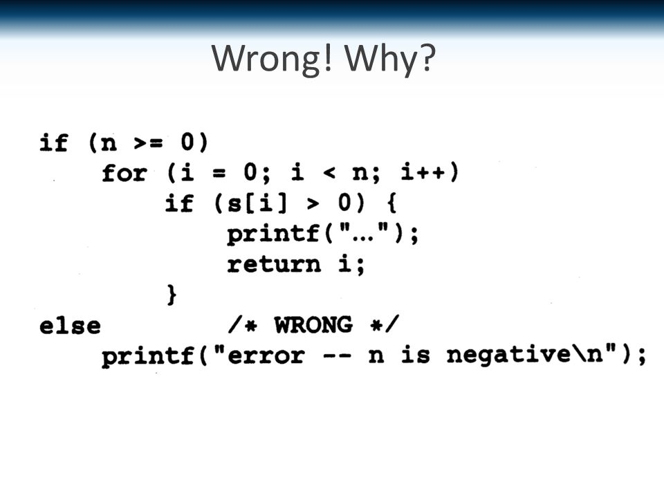 Wrong! Why?