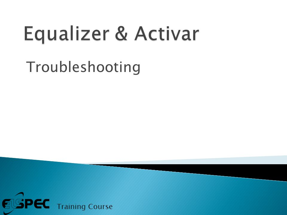 Troubleshooting Training Course