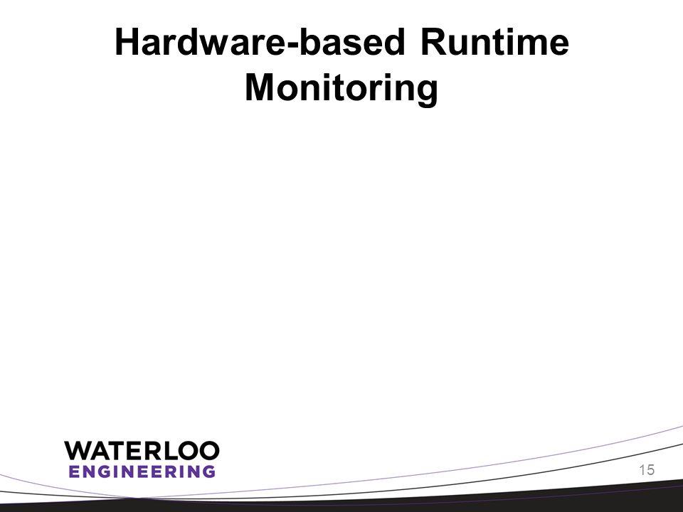 Hardware-based Runtime Monitoring 15