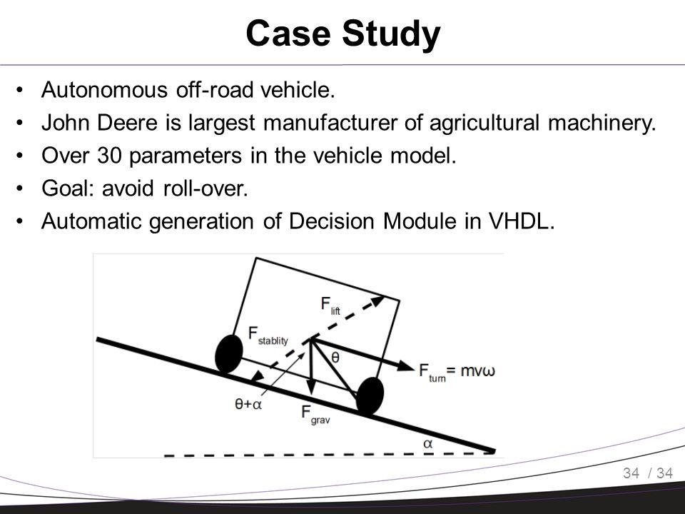 / 34 Case Study Autonomous off-road vehicle.