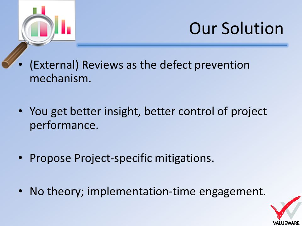 Our Solution (External) Reviews as the defect prevention mechanism.