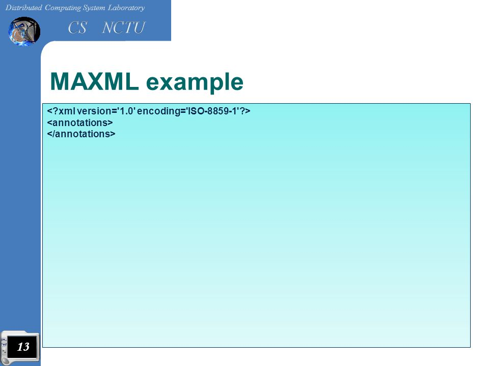 MAXML example 13