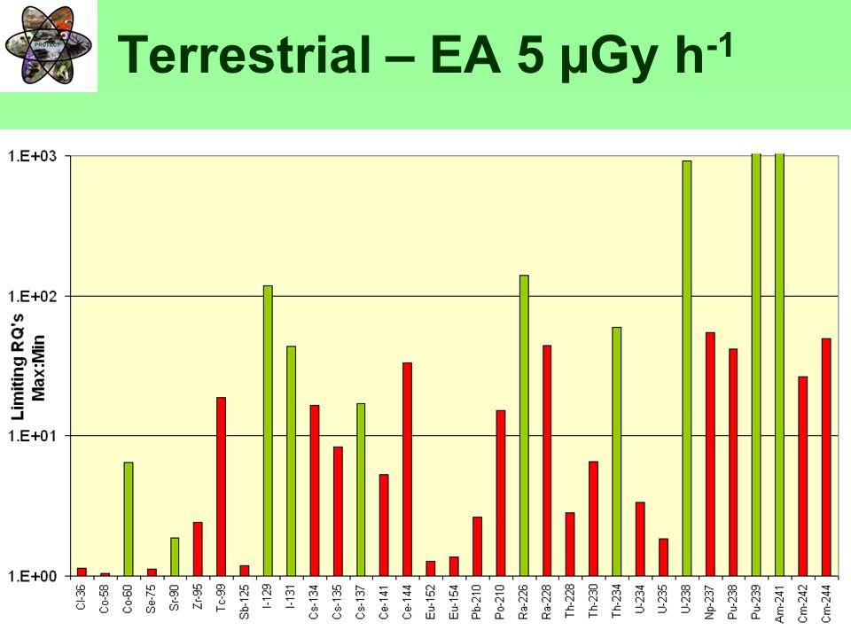PROTECTFP6-036425 Terrestrial – EA 5 µGy h -1