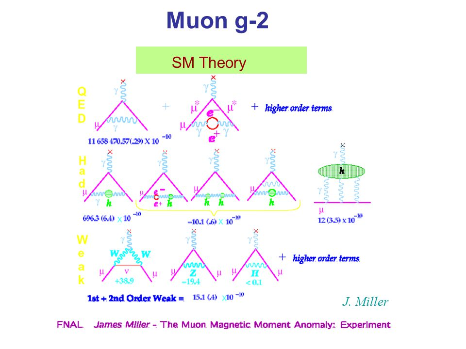 Muon g-2 SM Theory J. Miller