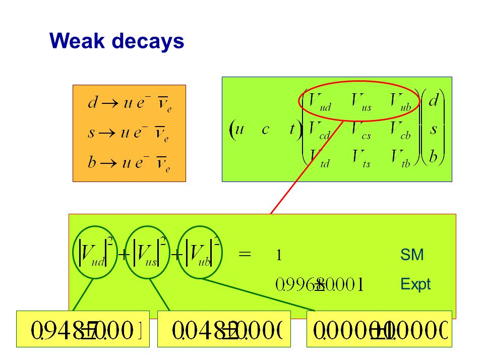 Weak decays   -decay New physics SUSY