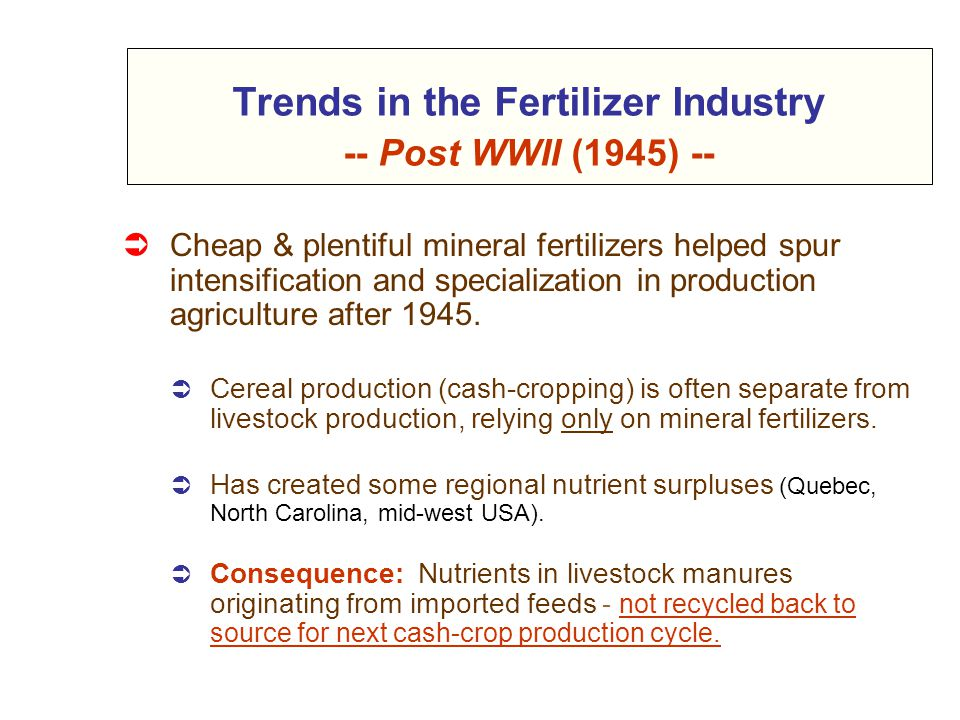 Food Products Human Consumption Cereal Production LARGE SCALE ONE-WAY NUTRIENT FLOWS Recycling Nutrients & Organic Matter Annual Mineral Fertilizer Additions Nutrients & O.M.
