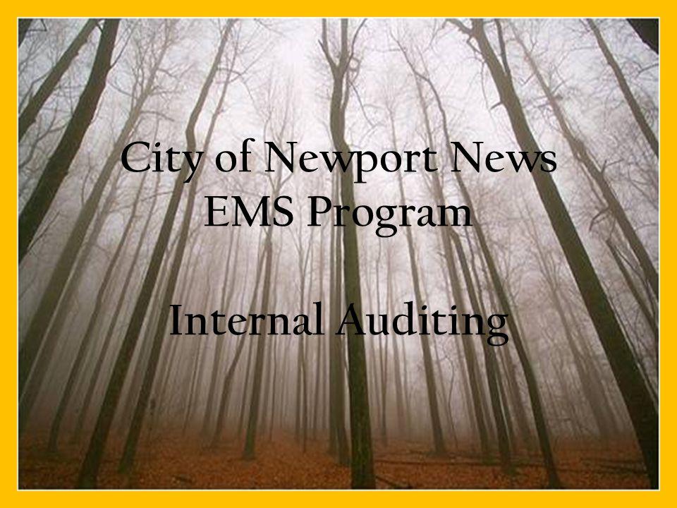 City of Newport News EMS Program Internal Auditing