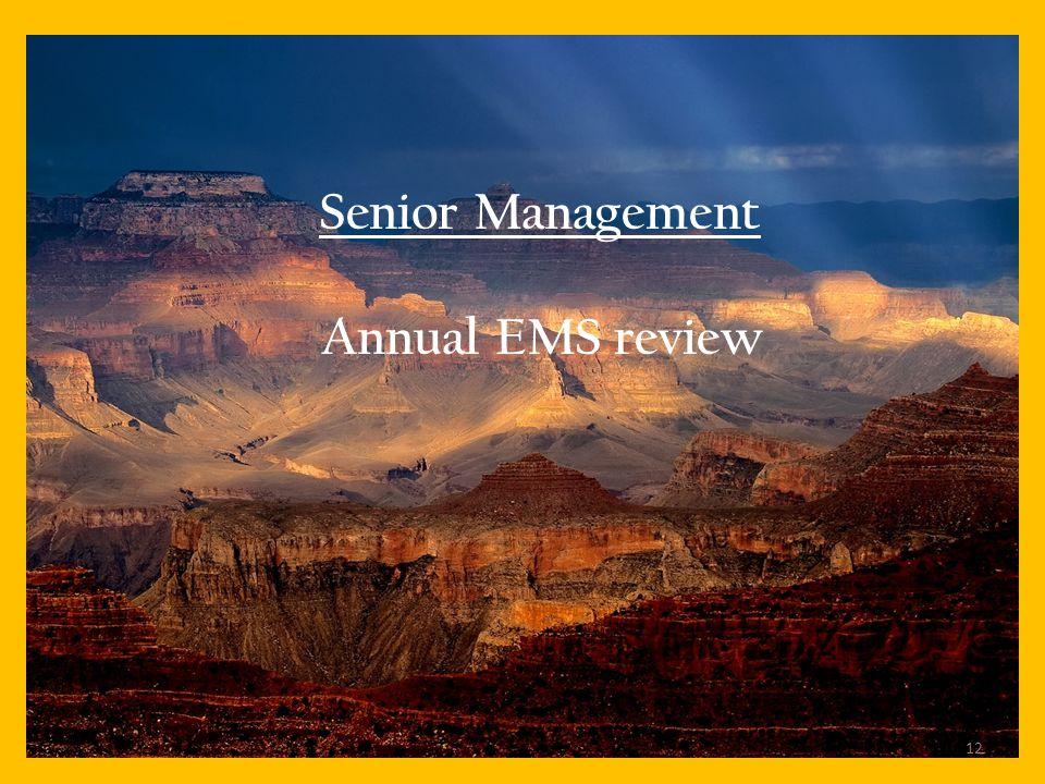 Senior Management Annual EMS review 12