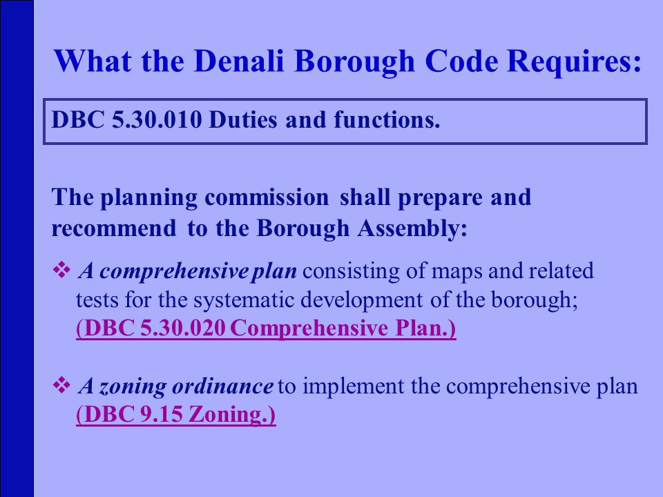 DBC 5.30.010 Duties and functions.