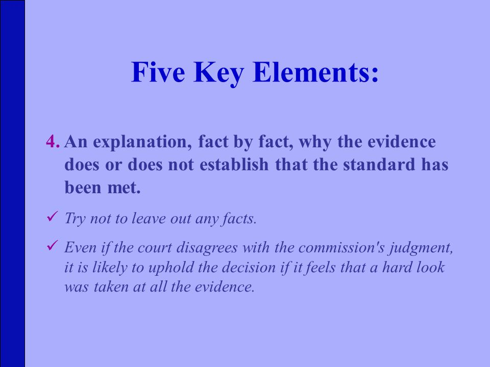 Five Key Elements: 4.