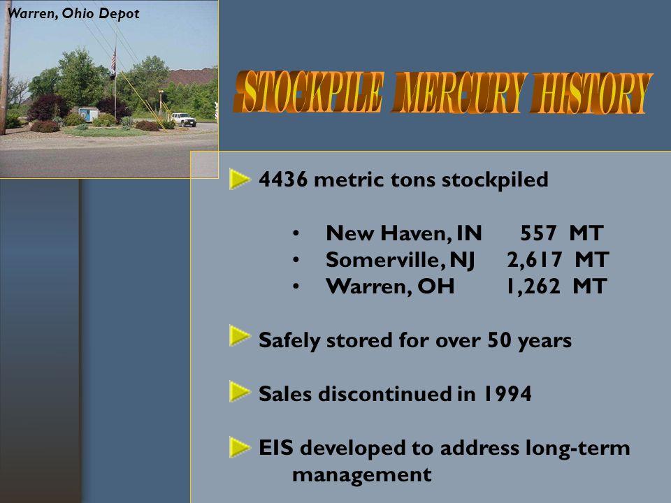 U.S.and Global Mercury Market Demand: U.S. consumption estimated at 269 metric tons in 2001.