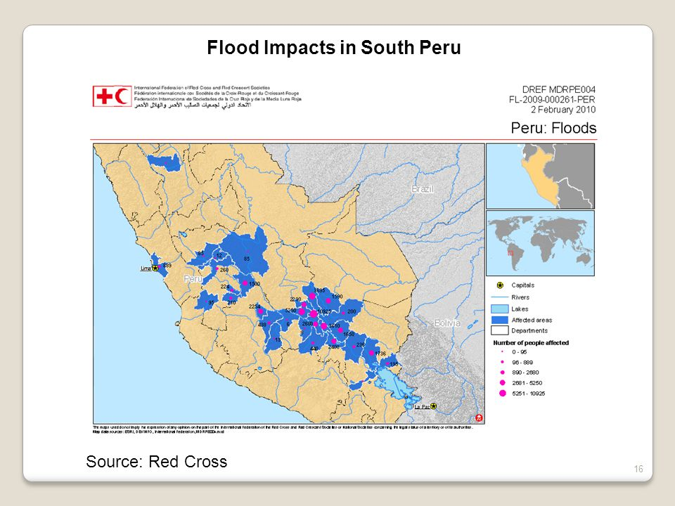 Source: Red Cross 16 Flood Impacts in South Peru