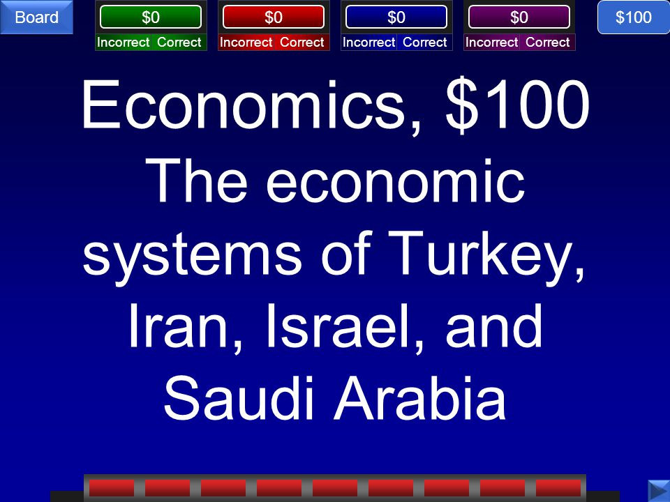 $0 Board Israel Palestine, $100 response What is a Zionist? $100