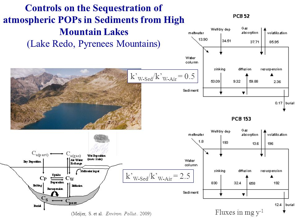 Controls on the Sequestration of atmospheric POPs in Sediments from High Mountain Lakes (Lake Redo, Pyrenees Mountains) (Meijer, S.