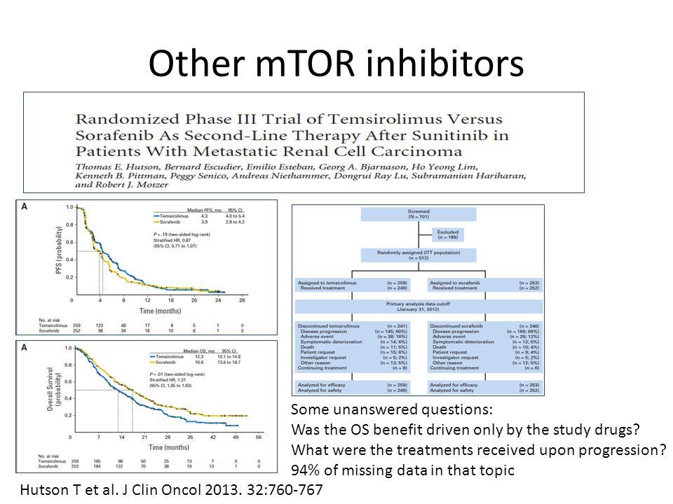Other mTOR inhibitors Hutson T et al. J Clin Oncol 2013.