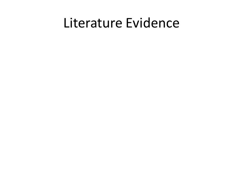 Literature Evidence