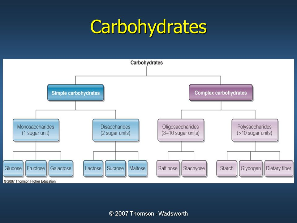 © 2007 Thomson - Wadsworth Carbohydrates