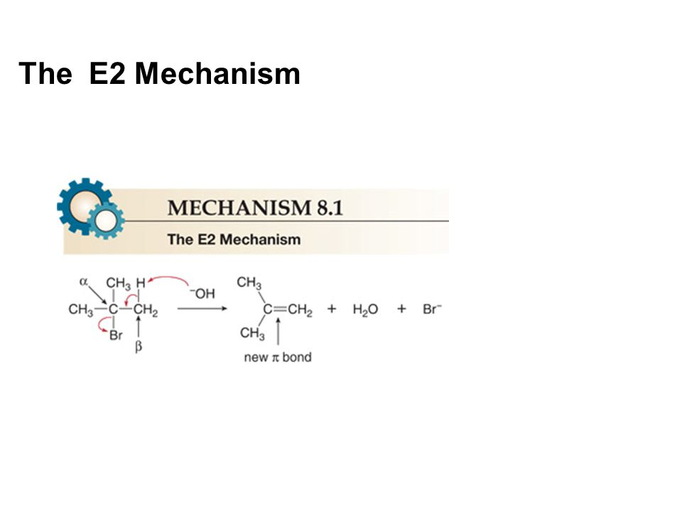 Energy Diagram for the E2 Mechanism