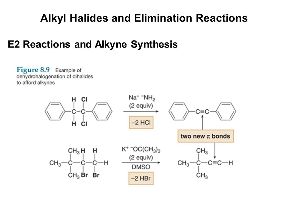 Alkyl Halides and Elimination Reactions E2 Reactions and Alkyne Synthesis
