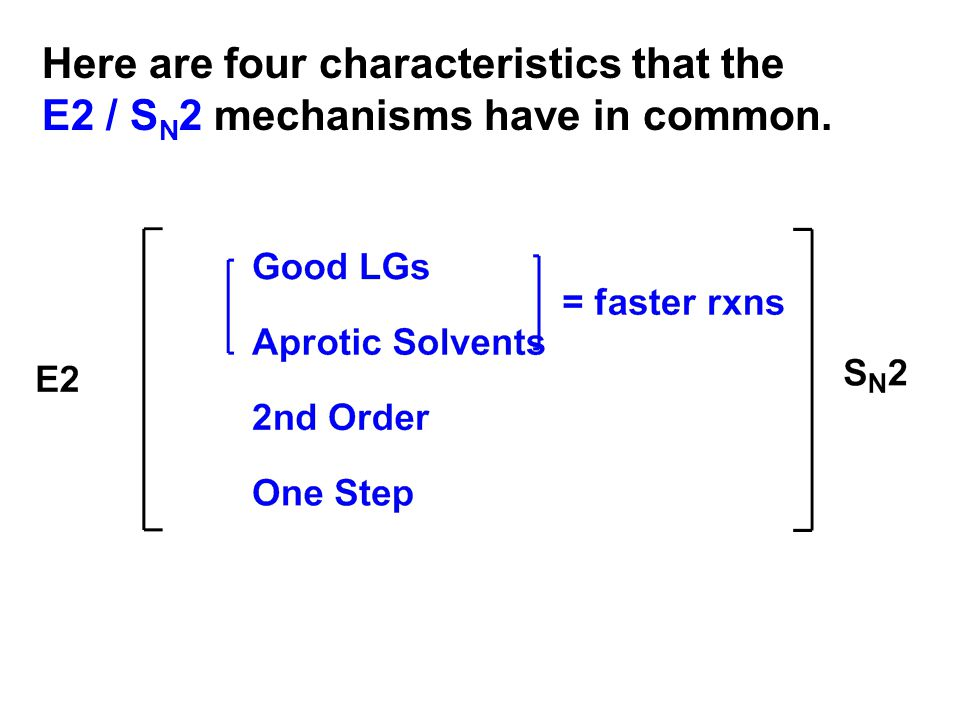 Predicting the Mechanism from the Reactants—S N 1, S N 2, E1 or E2.