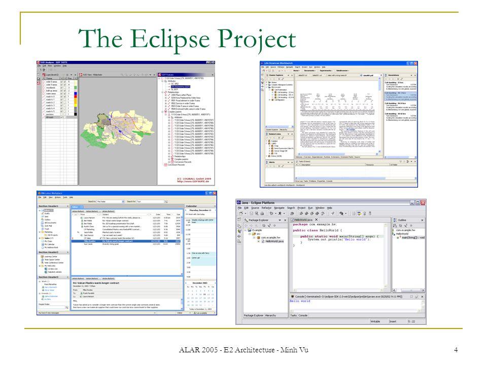 ALAR 2005 - E2 Architecture - Minh Vu 4 The Eclipse Project