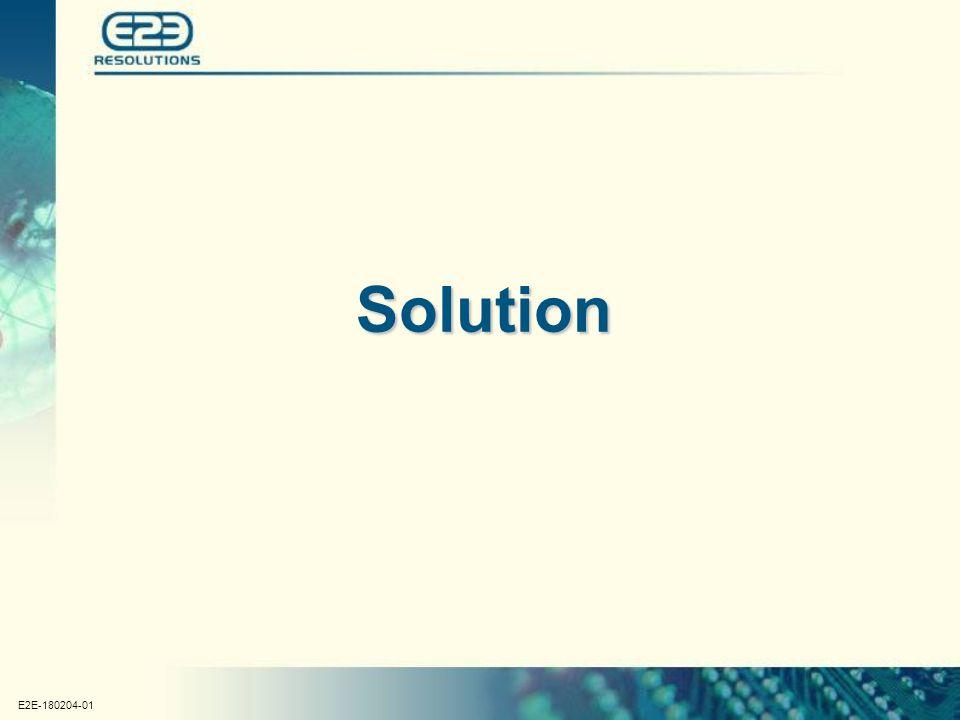 E2E-180204-01 Solution