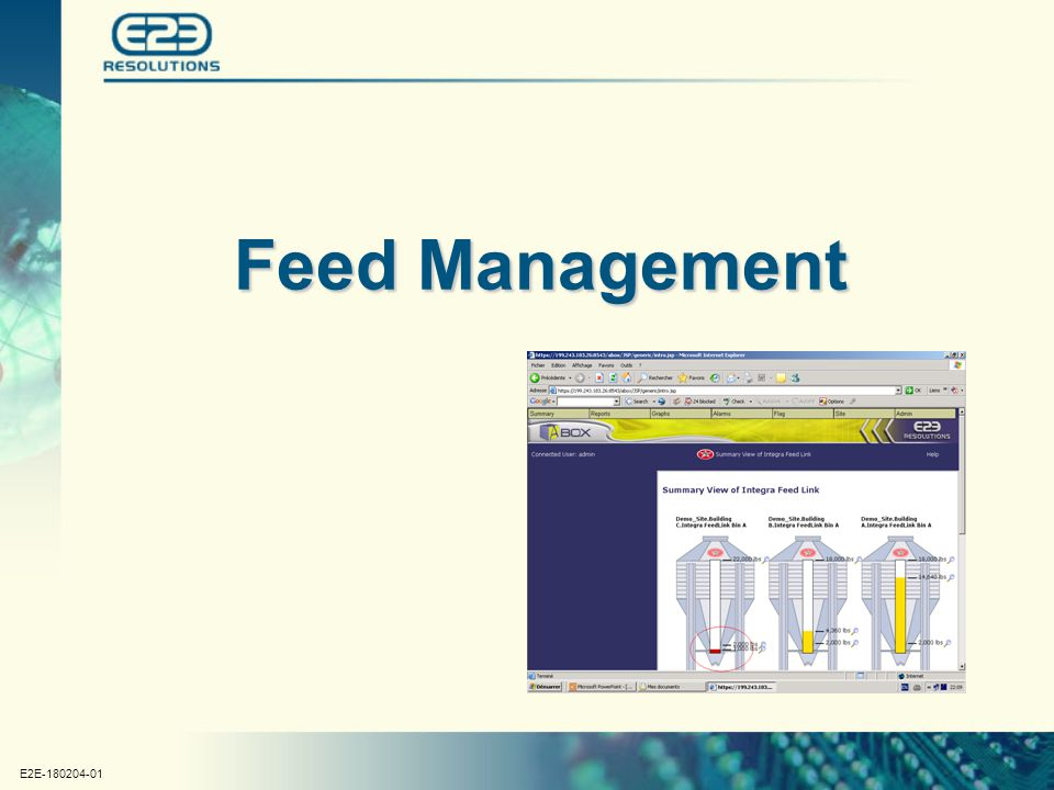 E2E-180204-01 Feed Management