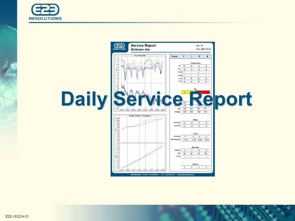E2E-180204-01 Daily Service Report