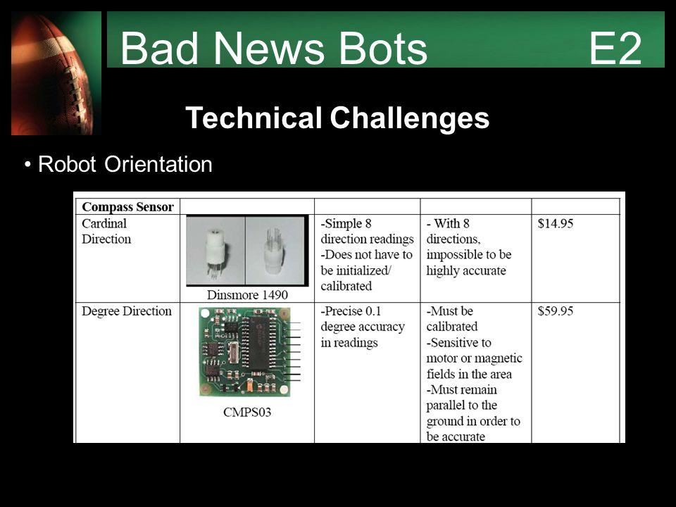 Bad News Bots E2 Technical Challenges Robot Orientation