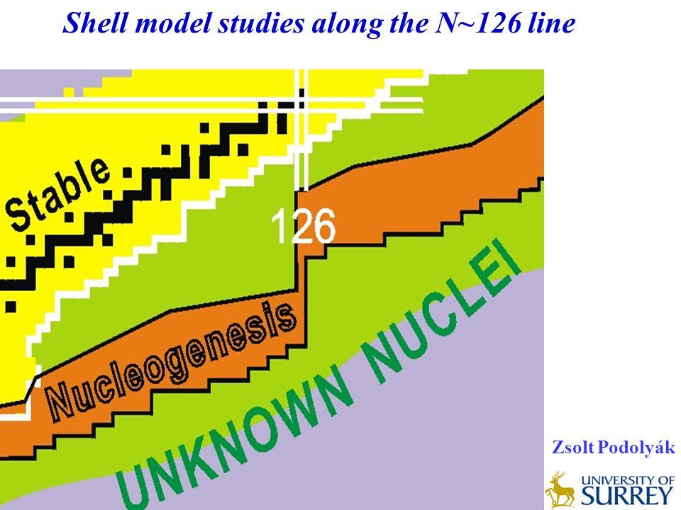 Shell model studies along the N~126 line Zsolt Podolyák