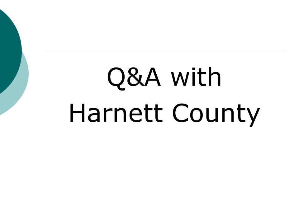 Q&A with Harnett County