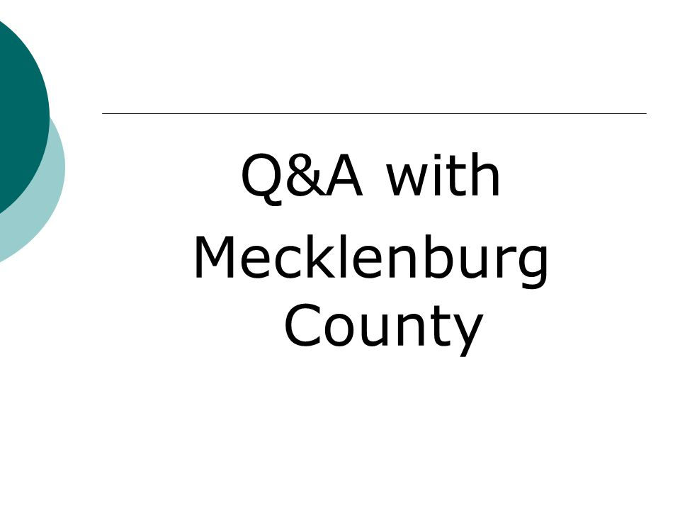 Q&A with Mecklenburg County