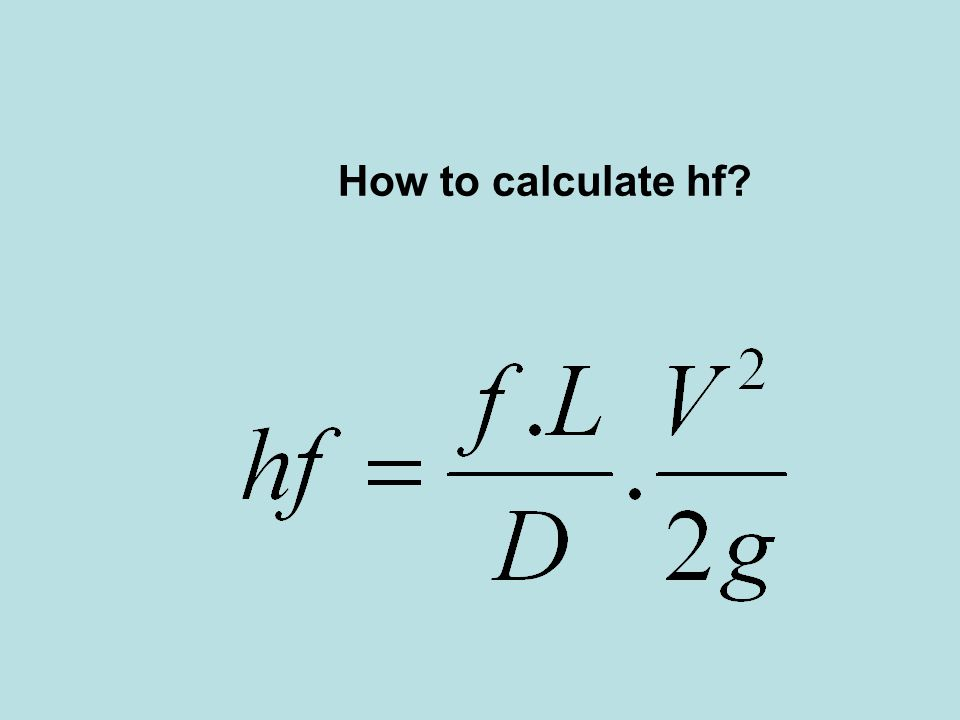 How to calculate hf?