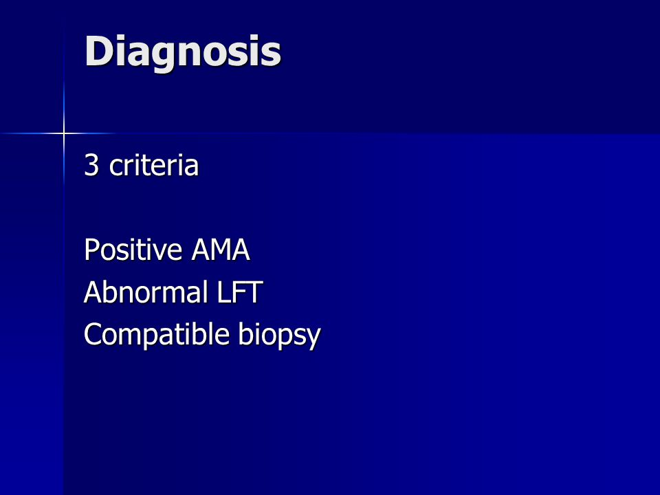 Lab tests LFTs-cholestatic pattern:ALP 3-5x ULN LFTs-cholestatic pattern:ALP 3-5x ULN -AST/ALT slightly elevated only -AST/ALT slightly elevated only -raised bilirubin may occur with advanced disease,dominant stricture,cholangioca,stones,cholangitis -raised bilirubin may occur with advanced disease,dominant stricture,cholangioca,stones,cholangitis