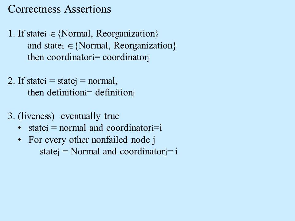 Correctness Assertions 1.