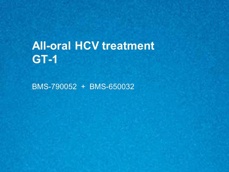 All-oral HCV treatment GT-1 BMS-790052 + BMS-650032