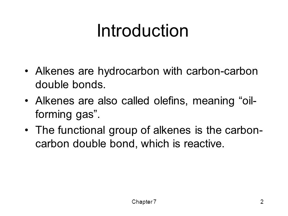 Chapter 733 Alkene Synthesis Overview E2 dehydrohalogenation (-HX) E1 dehydrohalogenation (-HX) Dehalogenation of vicinal dibromides (-X 2 ) Dehydration of alcohols (-H 2 O)
