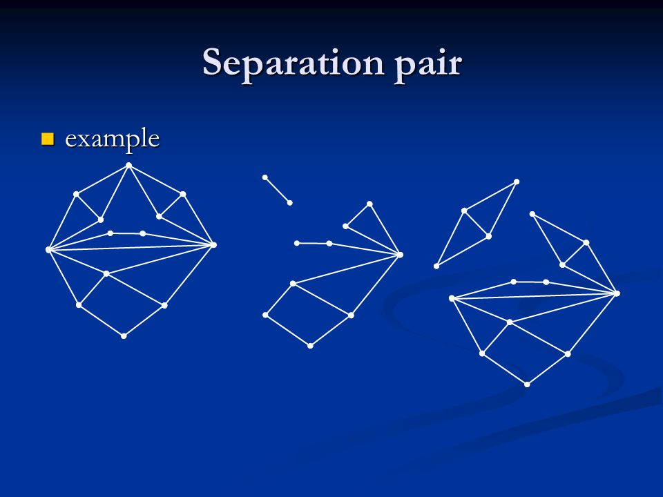 Separation pair example example