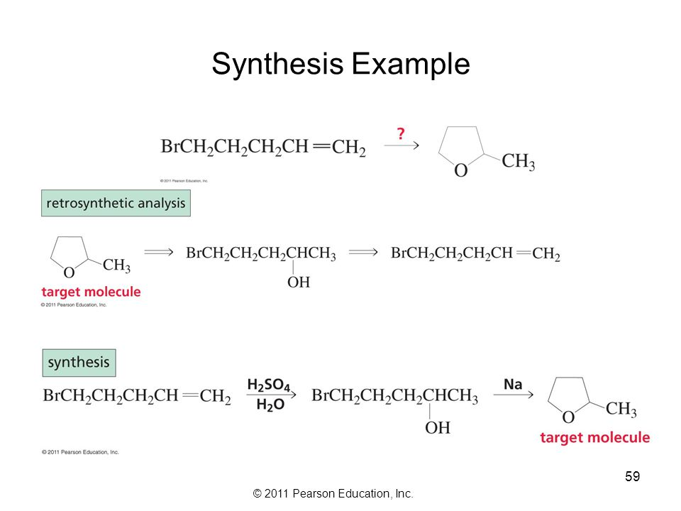 © 2011 Pearson Education, Inc. Synthesis Example 58