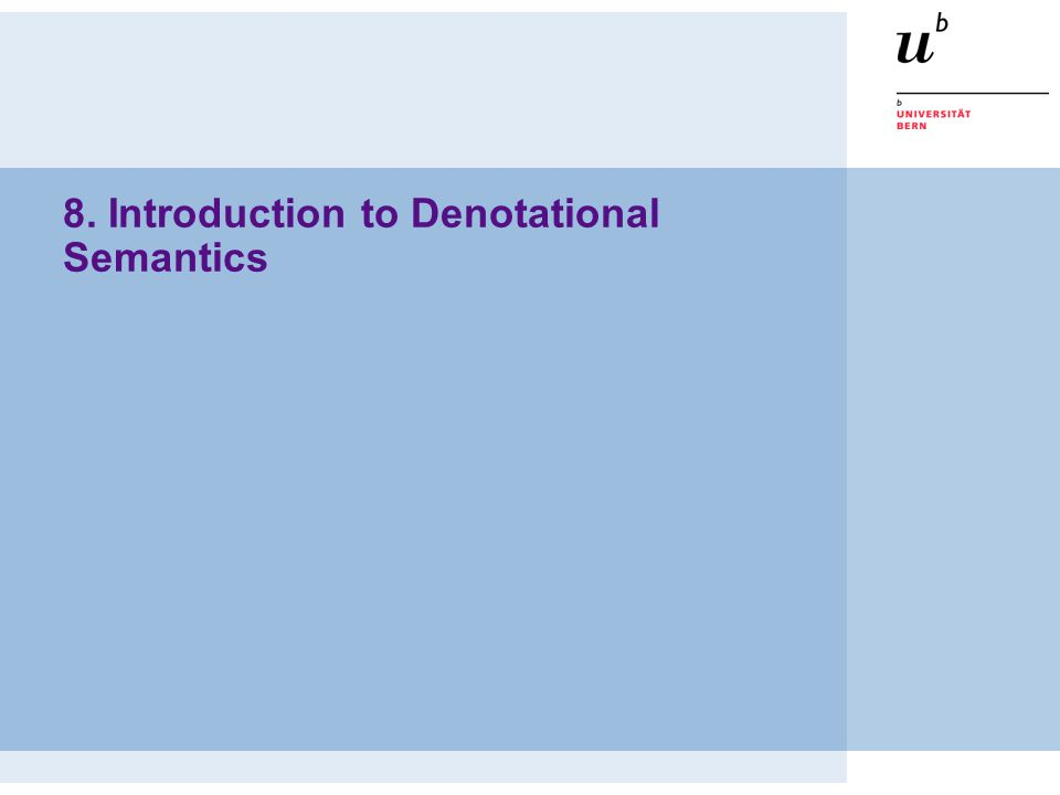 8. Introduction to Denotational Semantics