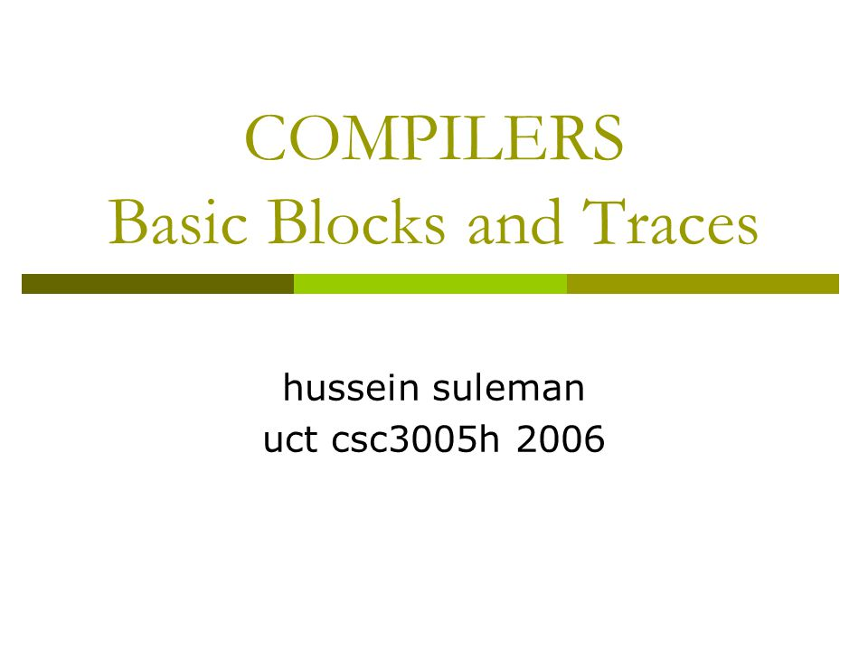 Evaluation Order  Its useful to evaluate the subexpressions of an expression in any order.