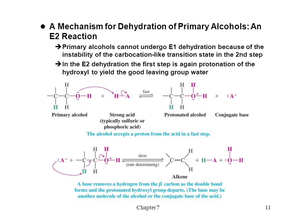 Chapter 712  Carbocation Stability and the Occurrence of Molecular Rearrangements Rearrangements During Dehydration of Secondary Alcohols  Rearrangements of carbocations occur if a more stable carbocation can be obtained  Example  The first two steps are to same as for any E1 dehydration